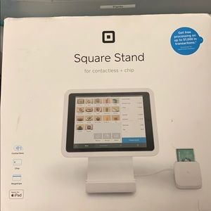 Square stand, new in box, used once, Swipe, chip